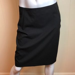 3/$27 NY & Co Black Pinstripe Pencil Career Skirt